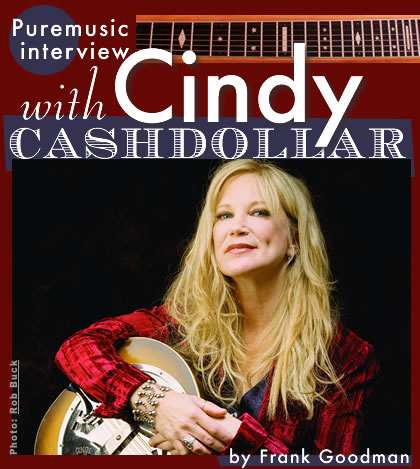 Puremusic interview with Cindy Cashdollar