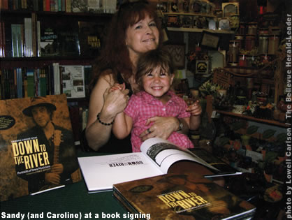 Sandy & Caroline at a book signing